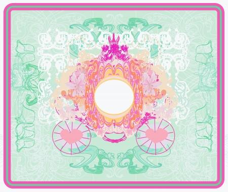 vintage floral carriage invitation  photo