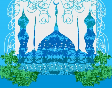 relegion: artistic pattern background with mosque