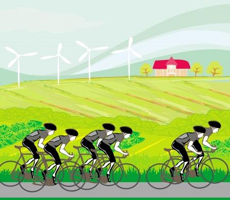 peloton: peloton cycling cyclists  Illustration