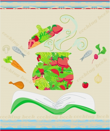 cooking book:  cooking book cover. vector illustration