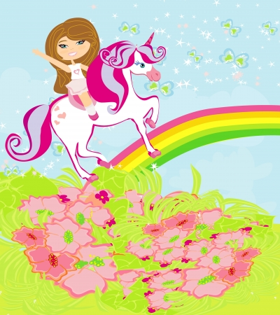 babygirl: The girl who goes on the sky on a winged unicorn