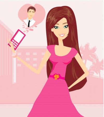 love call Stock Vector - 20884314