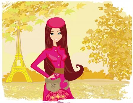 paris in the autumn, beautiful women Shopping