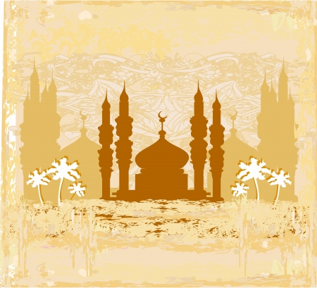 feter: artistic pattern background with mosque