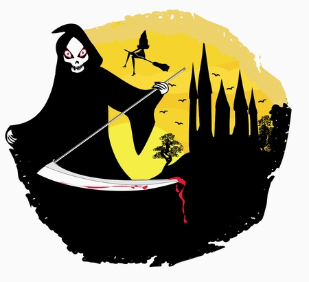 Grim reaper illustration Vector
