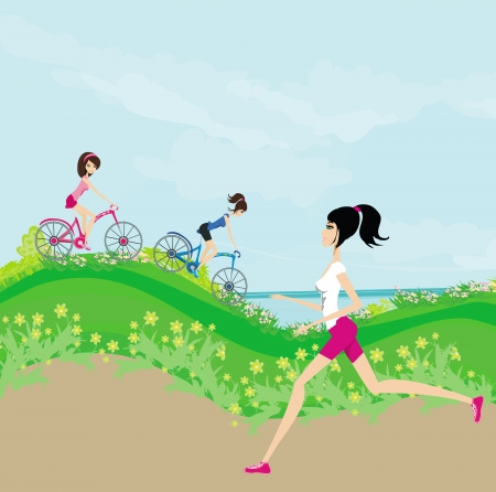 jogging in nature: relax in the park