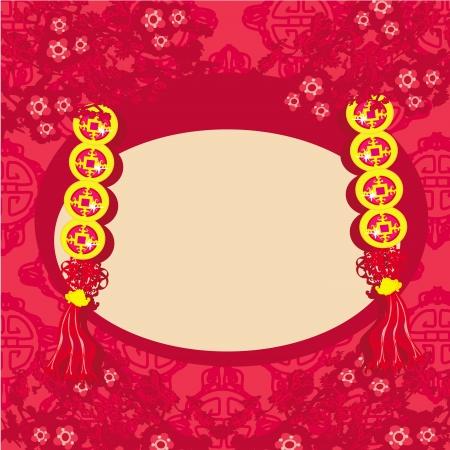 chinese new year card: Chinese New Year card - Traditional Chinese lanterns
