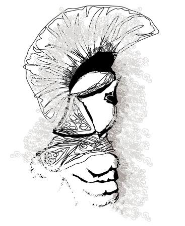 Roman soldier portrait -  illustration Stock Vector - 21534297