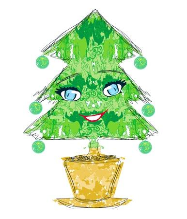lowbrow: christmas tree cartoon character