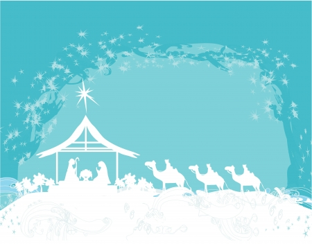 Christian Christmas nativity scene of baby Jesus in the manger