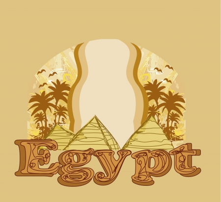 giza: frame with pyramids giza  Illustration