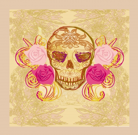 rose: Day of the Dead card  Illustration