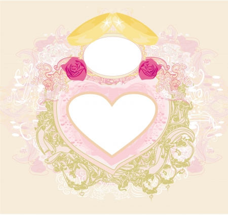 vintage wedding card with rings  Stock Vector - 21724366