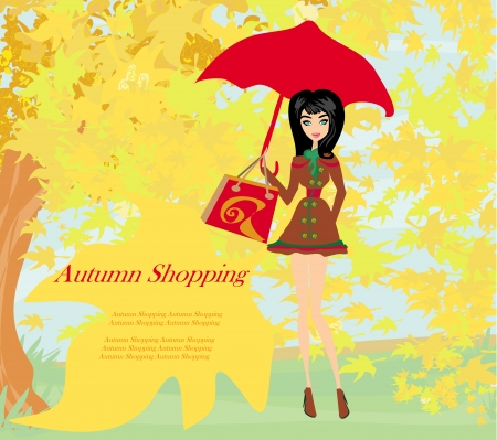 shoppingbag: Autumn Shopping with Beautiful Woman