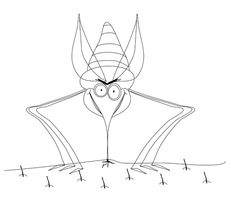 insect repellent: funny Mosquito, hand drawing
