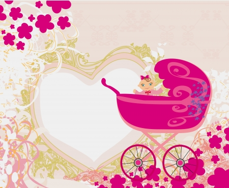 baby girl: baby girl announcement card