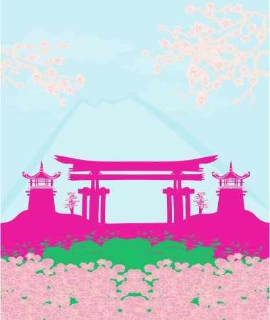 Beautiful landscape in Japan  Vector