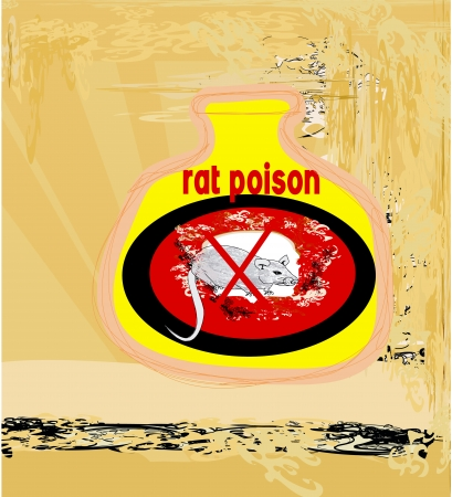 poison bottle: bottle of rat poison