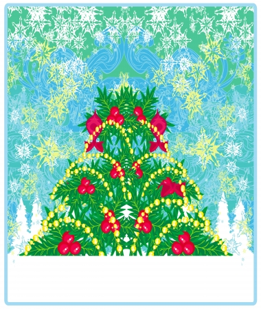 christmas tree background for your designs Vector