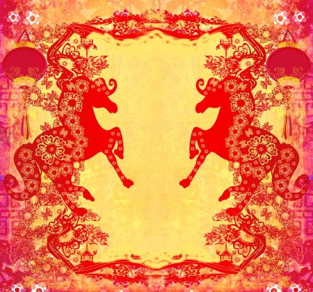 Year of Horse graphic design  photo