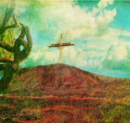 gloriole: Holy cross  Stock Photo