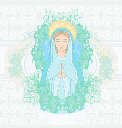mary: Blessed Virgin Mary portrait  Illustration