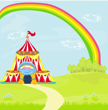 Travelling circus under the rainbow Vector