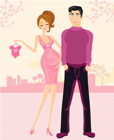 Belle femme enceinte et son mari heureux Banque d'images - 23794127