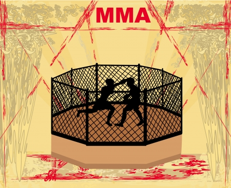 art of eight limbs: MMA Competitions, Grunge poster