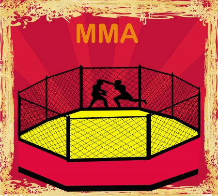 competitions: MMA Competitions, Grunge poster