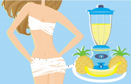slimming cocktail Vector