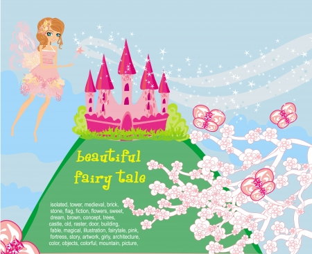 Magic Fairy Tale Princess Castle  Stock Vector - 24042366