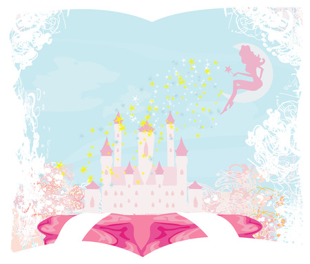 Magic Fairy Tale Princess Castle  Stock Vector - 24190676