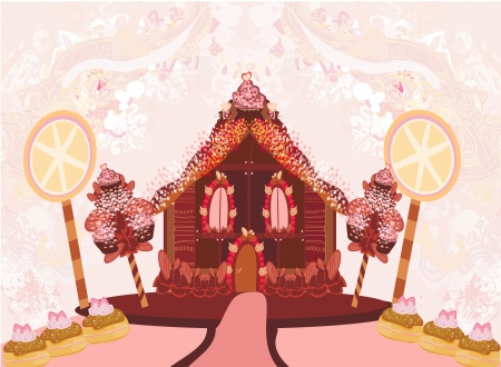 gingerbread house: gingerbread house illustration