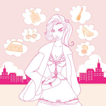 shoptalk: stylish shopping girl