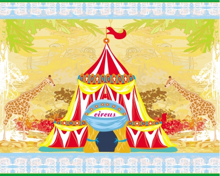 abstract circus on a grunge background  Vector