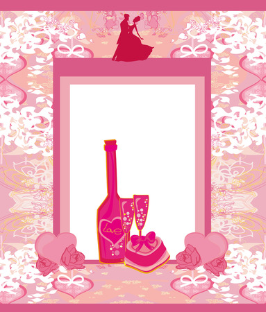 floral invitation to the prom dance Vector