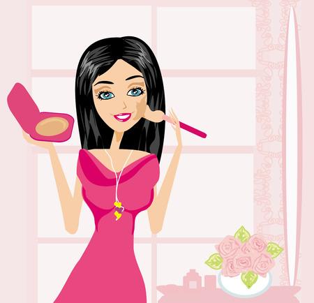 make up at home Stock Vector - 24893369