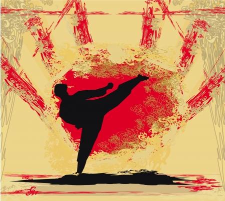 bjj:  karate Grunge poster  Illustration