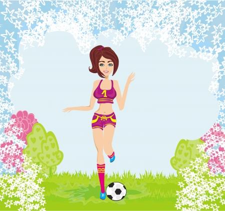 sexy meisje: sexy meisje spelen voetbal