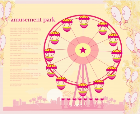 abstract card - amusement park illustration  Vector