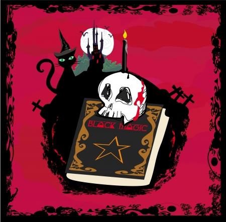 black magic: black magic book - abstract vector for halloween Illustration