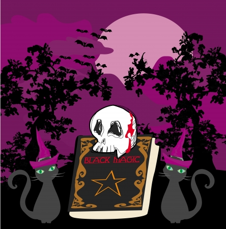 black magic book - abstract vector for halloween  Vector