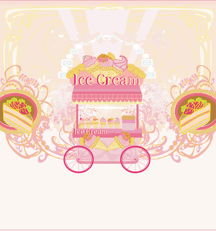 candy store - abstract retro card Vector