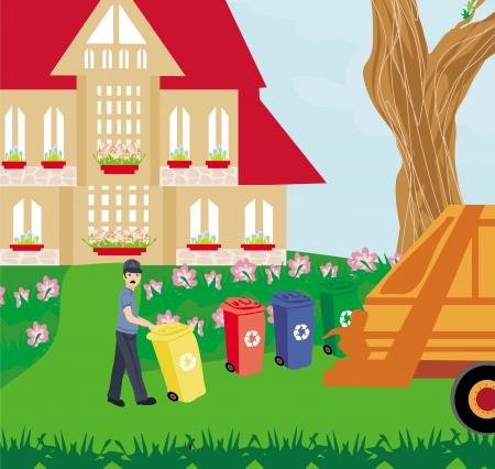 segregation: segregation of garbage