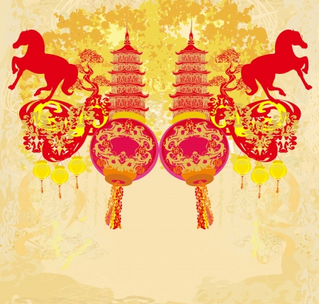 Chinese Mid Autumn festival and New year design element  Vector