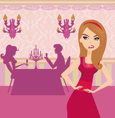 betrayal: jealous woman