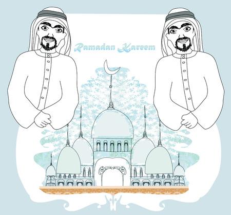 madina: Muslim praying at Medina holy Islamic city