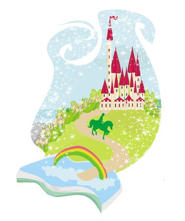 magic book with a beautiful fairy tale
