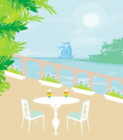 tropical drink: barra bebida tropical Vectores